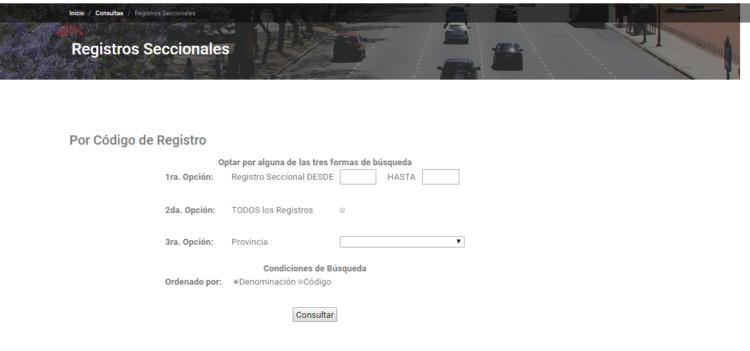 Horarios De Registro Seccionales Online