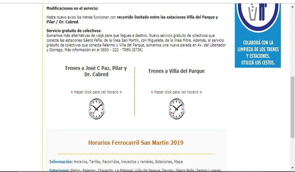 ¿Cuáles Son Los Nuevos Horarios Del Tren San Martín?