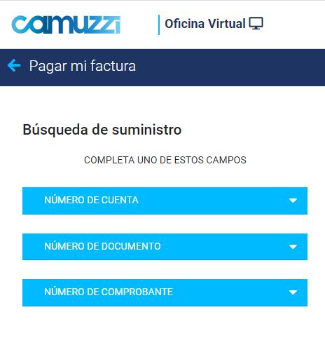 Ver Factura Camuzzi Por Número De Cuenta