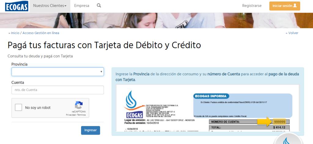 ¿Puedo pagar Ecogas con tarjeta de crédito?