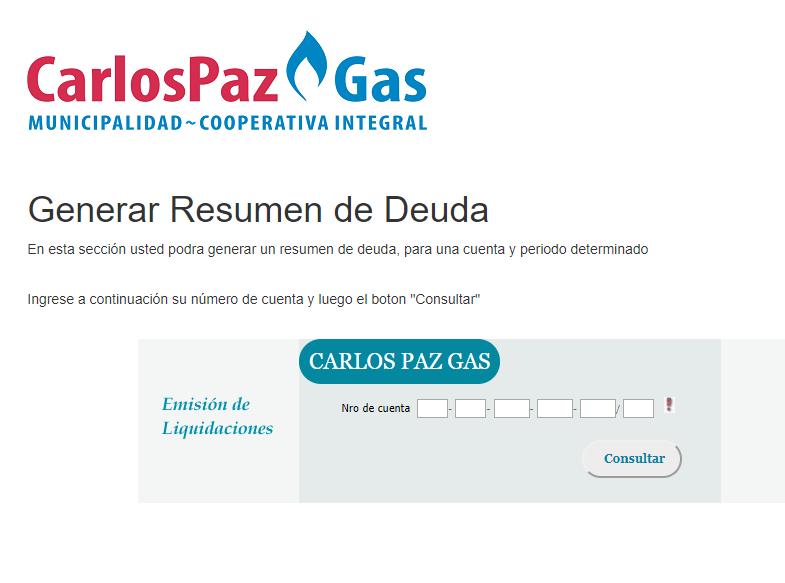 Cómo Actualizar Factura De Carlos Paz Gas