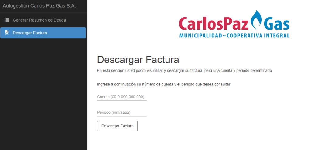 Descargar Factura De Carlos Paz Gas